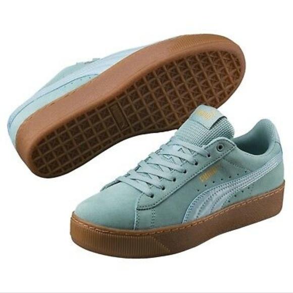 Puma Shoes | Puma Vikky Suede Platform